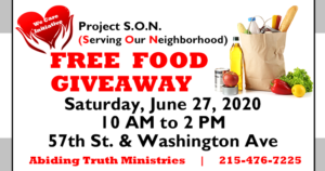 Food Giveaway Event